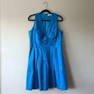 Calvin Klein blue sleeveless dress